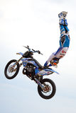 A professional rider at the FMX (Freestyle Motocross) competition Stock Photo