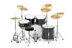 Professional Rock Black Drum Kit. 3d Rendering Royalty Free Illustration