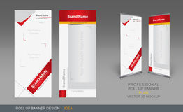 Professional Roll Up Concept 01. Professional Roll Up Concept Template for Business Purpose, Place Your Products and Ready To GO For Print Royalty Free Stock Images