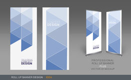 Professional Roll Up Concept 04. Professional Roll Up Concept Template for Business Purpose, Place Your Products and Ready To GO For Print Royalty Free Stock Images
