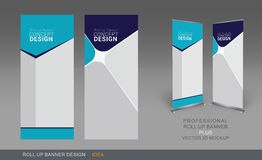 Professional Roll Up Concept 05. Professional Roll Up Concept Template for Business Purpose, Place Your Products and Ready To GO For Print Stock Photos