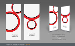 Professional Roll Up Concept 07. Professional Roll Up Concept Template for Business Purpose, Place Your Products and Ready To GO For Print Stock Photography