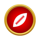 Professional rugby ball icon, simple style Stock Images