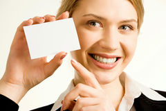 Professional�s white card Royalty Free Stock Image