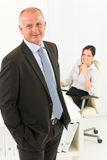 Professional senior businessman office secretary Stock Image