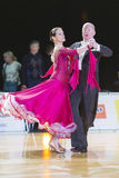 Professional Senior Dance couple Performs European Standard Program on the WDSF Baltic Grand Prix-2106 Championship Royalty Free Stock Photo
