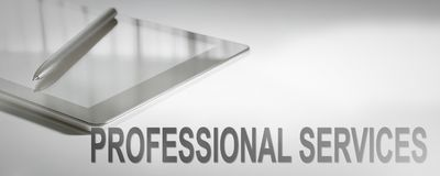 PROFESSIONAL SERVICES Business Concept Digital Technology. Graphic Concept Stock Images