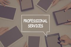 PROFESSIONAL SERVICES CONCEPT Business Concept. Business text Concept Stock Image