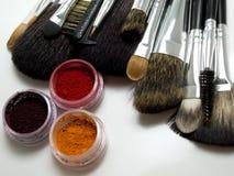Professional set of make up brushes Stock Image