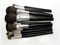 Professional set of make up brushes Stock Photo