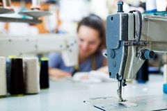 Professional sewing machine close up Royalty Free Stock Photo