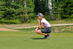 professional shimanskaya vera för golfare Arkivbild