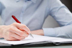 Professional Signing a Document stock images
