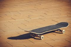 Professional skateboard. Posed on the floor Stock Image
