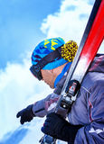 Professional skier Royalty Free Stock Images