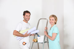 Professional smiling decorator Stock Image
