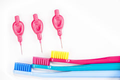 Professional soft toothbrushes Stock Image