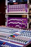 Professional sound and audio mixer control panel. With buttons and sliders stock photos