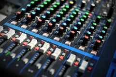 Professional sound console Royalty Free Stock Photos