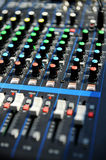 Professional sound console Stock Photo
