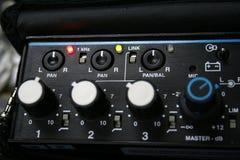 Professional sound mixer. Close-up a professional sound mixer Royalty Free Stock Photos