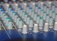 Professional sound mixer control desk Royalty Free Stock Photography