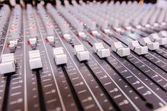 Professional sound mixer control desk Royalty Free Stock Photos