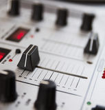 Professional sound mixing controller Stock Photo