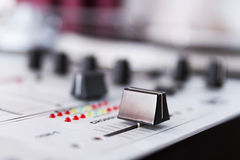 Professional sound mixing controller Stock Photography