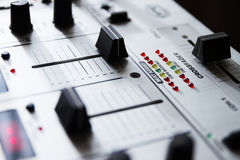 Professional sound mixing controller Stock Images