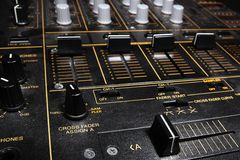 Professional sound mixing controller mixer Stock Images