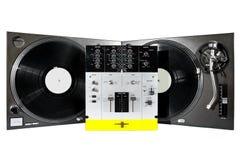 professional sound turntables för blandare Fotografering för Bildbyråer