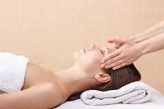 Professional spa specialist making massage Stock Photography