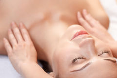 Professional spa specialist making massage Royalty Free Stock Photo