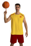 Professional Spanish basketball player with ball. Stock Photography