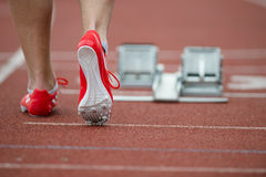 Professional sprinter walking Royalty Free Stock Photography