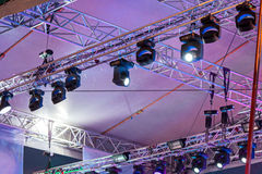 Professional stage light equipment Royalty Free Stock Photography