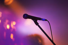 Professional stage microphone closeup Royalty Free Stock Image