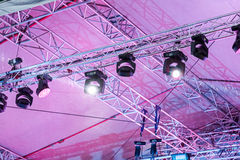 Professional stage spotlight equipment Stock Photography
