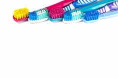 Professional and standard toothbrushes Stock Photo