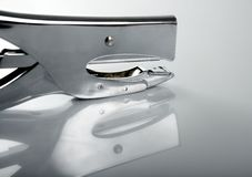 Professional stapler, chrome reflex Royalty Free Stock Photography