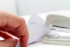 Professional stapler Royalty Free Stock Photos
