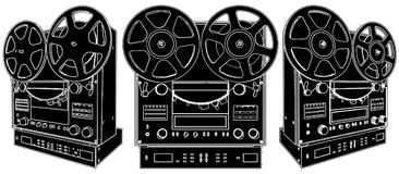 Professional Stereo Audio Tape Deck Recorder Royalty Free Stock Images