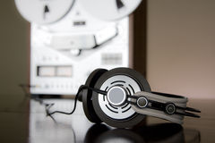 Professional stereo headphones Stock Photos