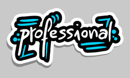 Professional sticker. Creative design of professional sticker Royalty Free Stock Photos
