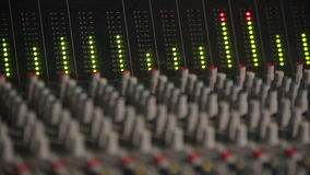 Professional Studio Equipment with Sound stock footage