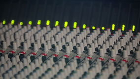 Professional Studio Equipment with Sound Controller and Equalizer stock video footage