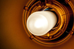 Professional Studio Light Bulb and Flash Detail Royalty Free Stock Photos