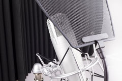 Professional studio microphone Royalty Free Stock Image