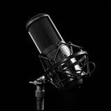 Professional studio microphone. Royalty Free Stock Photo